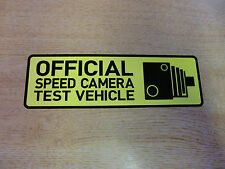 """""""Official Speed Camera Test Vehicle"""" Bumper Sticker Window Decal 150mm [v1] YELL"""