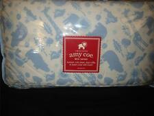 NEW Amy Coe MOD SAFARI Blue Boy Crib Bedding Set Giraffe Lion Animals Baby Boys