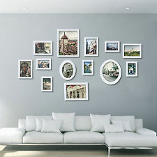 13Pcs Wooden Multi Photo Frame Picture Frames Wall Hang Wall Frame Set