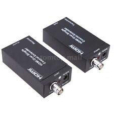 HDMI + IR Over Single 75ohm Coax Cable Extender Balun Sender Receiver HDTV 100m#