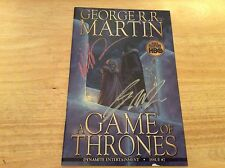 SIGNED x2 George R R Martin A Game Of Thrones Comic #7 1st Variant Mike S Miller