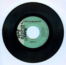 Philippines MASO/MON DEL ROSARIO Bakit Ka Walang Kibo OPM 45 rpm Record