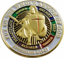 "Put On The Whole Armor of God Lapel Pin [1"" - Gold]"