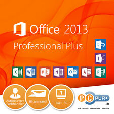 MS Microsoft Office 2013 Professional Plus • Vollversion • Original • Business