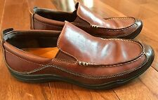 Men's Cole Haan Loafers Shoes Nike Air Soles Brown Leather Size 9.5