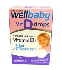 Vitabiotics Wellbaby Vitamin D Drops 30ml Wellkid Childrens Infant D3 8.5mcg