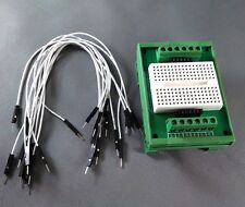 Industrial DIN Rail Mount Circuit Prototype Breadboard 12 Screw Terminal I/O