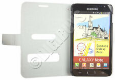 Grey Folio Side Opening PU case Wallet for Samsung Galaxy Note N7000 i9220 UK