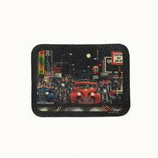 Biker Chopper David Mann Hot Rod Sunset Strip Echt Leder Aufnäher Leather Patch