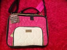 BETSEY JOHNSON MESSENGER PINK INSULATED LUNCH BOX TOTE /BABY BAG SHOULDER STRAP