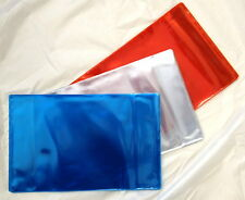 10x PROTECTIVE PLASTIC COVERS FOR SCHOOL EXERCISE BOOKS (RED)