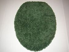 Toilet Lid Bath Rug Seat Cover Green Excellent Condition