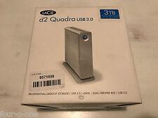 LaCie d2 Quadra v3 USB 3.0 7200RPM 3TB External Hard Drive (301549U)