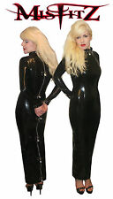 Misfitz rubber latex hobble padlock restraint dress. Sizes 8-32/made to measure
