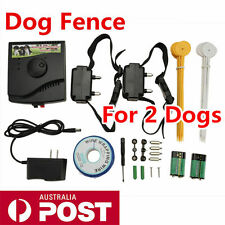 Waterproof Stubborn Underground 2 Dog Electric Fence System Fencing Containment