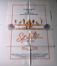 SPLITZ movie poster 1984 sexploitation SORORITY CHEERLEADERS Dominic Paris