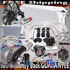 "GT45 Turbo 3"" Intercooler +Piping+BOV+Oil Cooler Kits Stage III High Performance"
