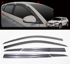 Smoke Window Shield Sun Visor Vent Wind Rain 6p 1Set For 2016 Hyundai Tucson