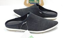 SANUK WOMENS KAT NIP BLACK SIDEWALK SURFER 7.5