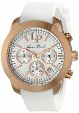 NEW Lucien Piccard LP-12938-RG-02 Women's Belle Etoile White Silicone Rose Watch
