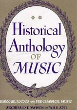 Historical Anthology of Music, Volume II, Baroque, Rococo, and Pre-Cla-ExLibrary