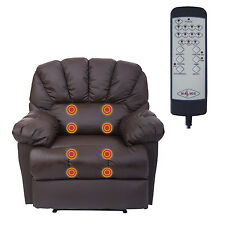HomCom Massage Recliner Sofa Chair Ergonomic Lounge Couch Leather Vibrating New