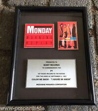 "Color me badd - Nr. 1 Hit Radio Award 1991 ""I Adore Mi Amor!"" an Giant records"