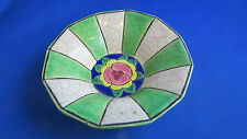 ancienne coupelle faience longwy emaux decor floral rose