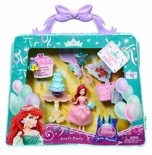 DISNEY PRINCESS LITTLE KINGDOM ARIEL'S PARTY GIFT SET MINI DOLL W. ZIP BAG *NEW*