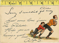 "Raphael Tuck & Sons ""Write Away"" vintage rugby postcard Series No 761"