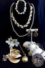 Vintage ALL SIGNED Jewelry Lot TRIFARI Coro Torino Sarah Coventry Sterling +