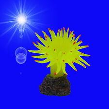 Aquarium-Deko ❤️ GELBE BLUMEN-KORALLE ❤️ Anemone maritime Dekoration Zubehör