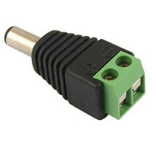 DC Power Jack Connector Male CCTV 12v Cable Adaptor Plug For CCTV DVR Camera