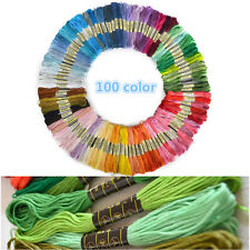 100pcs 8m Cross Stitch Sewing Skein Threads Cotton Embroidery Floss Thread