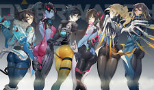 F804 Free Mat Bag Overwatch Sexy Girls Large Game Mouse Pad Deck Games Playmat