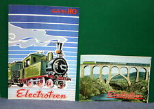 Pair of Vintage Electrotren HO Scale Train Catalogs - New Old Stock