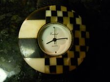 VINTAGE BLACK AND WHITE ONYX HOUNDS TOOTH EUROTECH 8 INCH WATCH