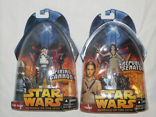 2 Star Wars Revenge of the Sith Action Figures. New. Padme, Clone Pilot 2005