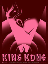 KING KONG ART DECO MOVIE POSTER STYLE A SMALL PINK LIMITED EDITION SCREEN PRINT