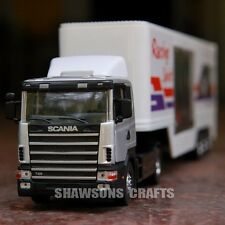 DIE CAST METAL TOYS 1:43 SCANIA FI CAR TRANSPORTER MODEL CONTAINER TRUCK REPLICA