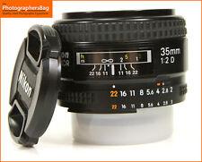 Nikon 35mm F2 D AUTOFOCUS primo Lens + GRATIS UK Affrancatura