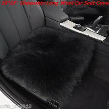 Car Seat Breathable Warm Soft Covers Chair Cushion Genuine Sheepskin Long Wool