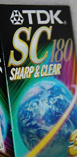 """3x TDK SC 180 Blank VHS Video Tapes """"Factory Sealed"""" Lot of Three Sharp & Clear"""