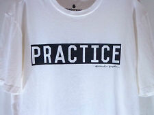 Spiritual Gangster off white T shirt Practice tee great for Yoga gym  size S new