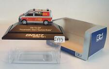 Rietze 1/87 PC Volkswagen VW T5 LR KTW Bus Feuerwehr Main-Taunus-Kreis OVP #2149