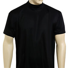 McDavid MD 907 T Men's Short Sleeve Mock Neck Referee Cut T-Shirt Black 3XL