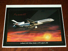 DELTA AIRLINES POSTER  FAREWELL L-1011