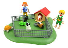 Playmobil #3210~Complete~Pet~Guinea Pig~Cage~Crate~Fence~House~Animal~Farm~RARE