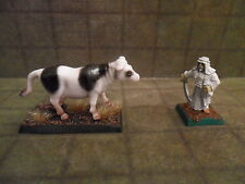 25mm / 28mm Painted Cow Farm Animal. Minees