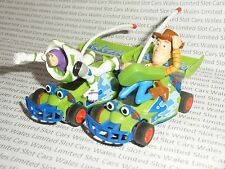 MICRO Scalextric - Pair of Toy Story Buzz and Woody Cars - Exc. Cdn.